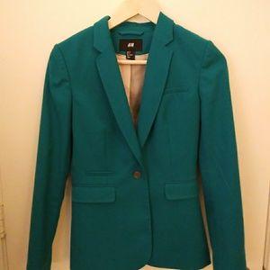 H&M teal blazer size 4 GUC